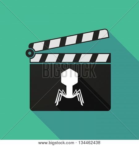 Long Shadow Clapperboard With A Virus