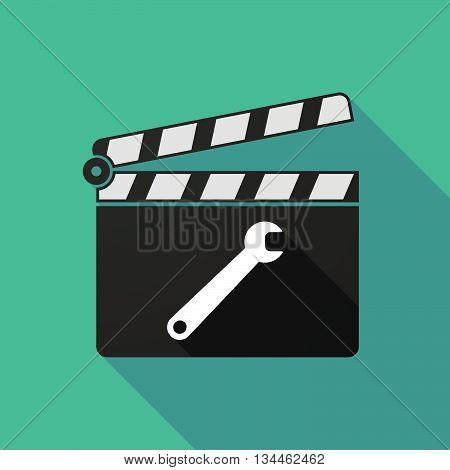 Long Shadow Clapperboard With A Spanner