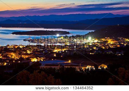 Island of Murter sailing destination archipelago sunset view Dalmatia Croatia