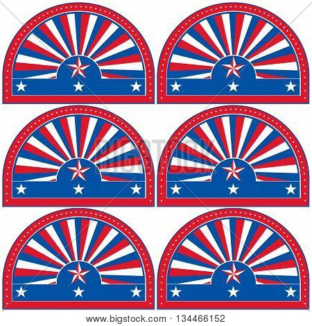 American patriotic symbol for design and decorate - also as emblem or logo template.