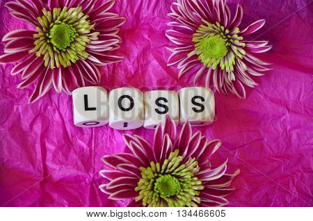 word loss on a  abstract colorful background