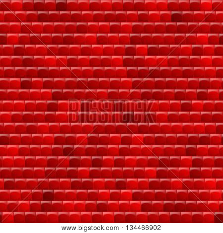 Heterogeneous corrugated surface. Seamless pattern red background