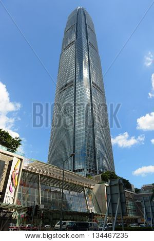 HONG KONG - NOV 9: Hong Kong Two International Finance Centre (IFC2), built in 2003, is currently the second highest building on Nov 9, 2015 in Hong Kong.