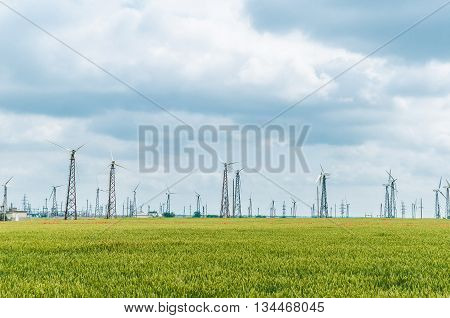 Eco power, wind turbines, wind power plant
