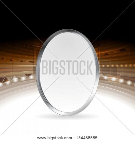 Tech abstract background with metallic ellipse