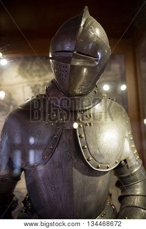 vintage european full body steel armor suit