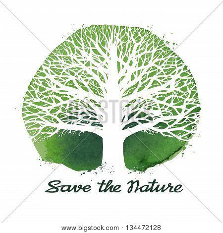 Tree logo. Ecology, nature symbol Environment icon