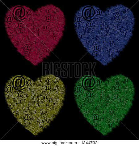 Four Hearts Online Love