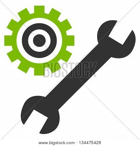 Configuration Tools vector icon. Style is bicolor flat icon symbol, eco green and gray colors, white background.