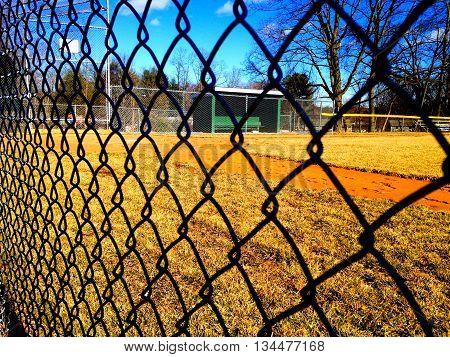 Little League baseball field at a neighborhood park
