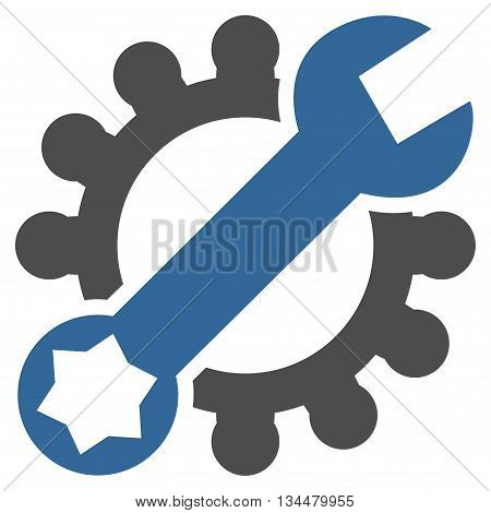 Configuration Tools vector icon. Style is bicolor flat icon symbol, cobalt and gray colors, white background.