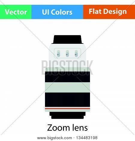 Icon Of Photo Camera Zoom Lens
