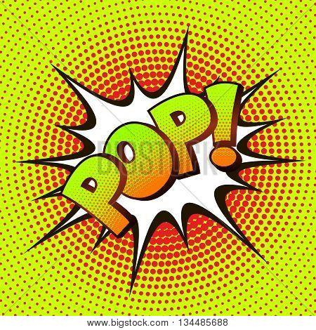 POP pop art on a background of halftone. Retro comics. Vector illustration