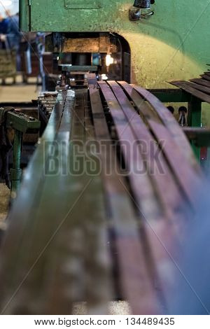 Manufacture of parts for engineering plant by stamping. Of steel strip made parts.