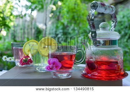 Enjoy refreshing nature herbal tea for health