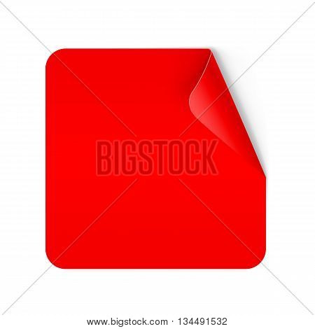 Illustration of Red Paper Notepad with Curling Coner