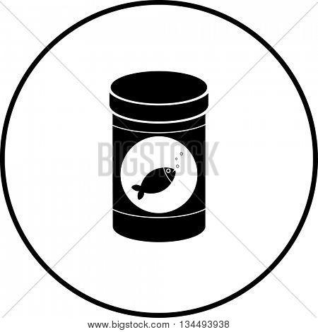fish food bottle symbol