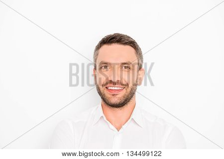 Cheerful Smiling Happy Guy Isolated On White Background