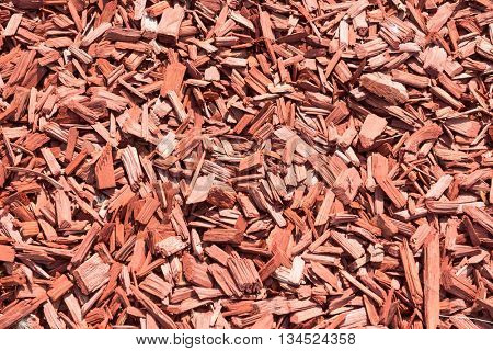 Background made from brown wood chips