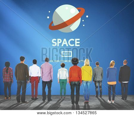 Space Astronaut Universe Galaxy Outer Concept