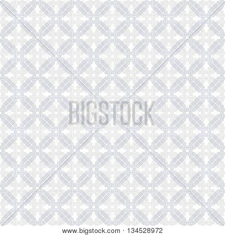 Geometric fine abstract hexagonal background. Seamless modern pattern. Wallpaper with gray and blue octagons