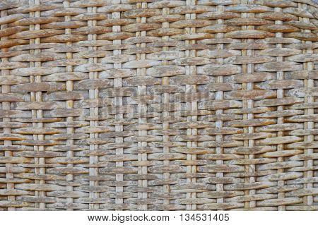 close up of rattan chair texture and background