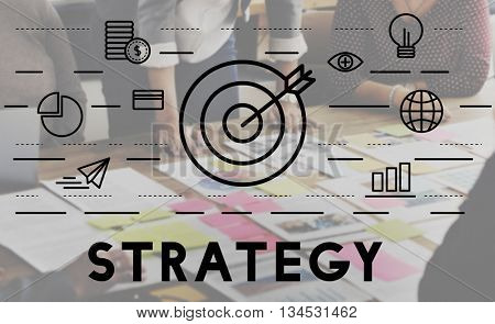 Strategy Target Mission Objective Graphics Concept