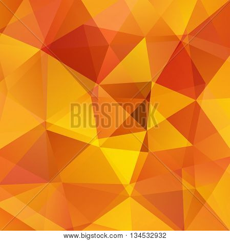 Abstract Background Consisting Of Orange Triangles, Vector Illustration