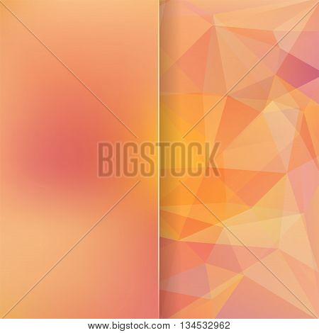 Abstract Background Consisting Of Yellow, Orange Triangles, Vector Illustration