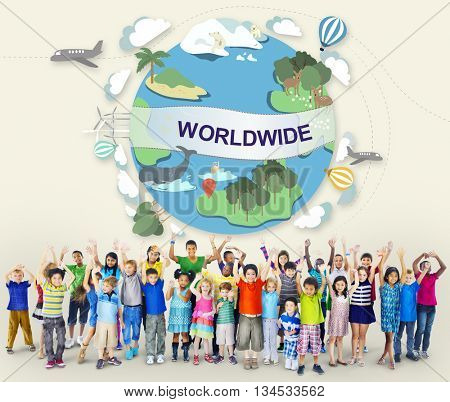World Worldwide Society Global Community Connection Concept