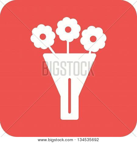 Bouquet, beauty, green icon vector image. Can also be used for seasons. Suitable for web apps, mobile apps and print media.