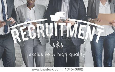 Recruitment Hiring Career Job Corporate Concept