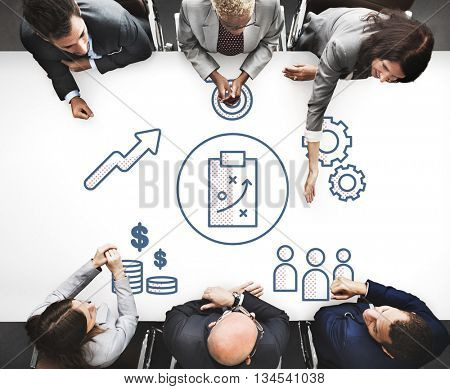 Strategy Business Brainstorming Graphic Concept
