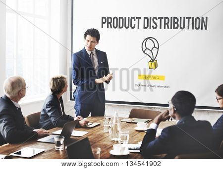 Product Distribution Manufacturing Purchase Concept