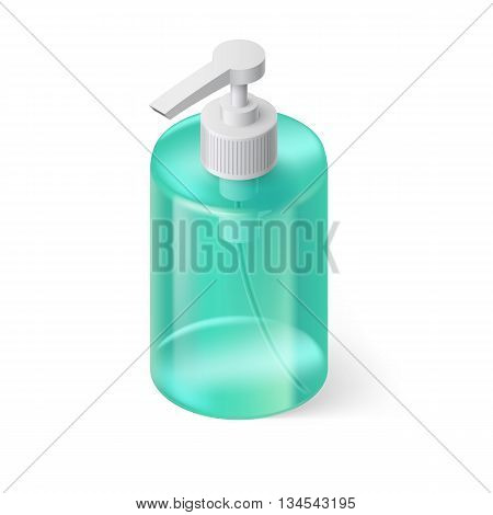 Transparent Bottle in Aquamarin Color without Label