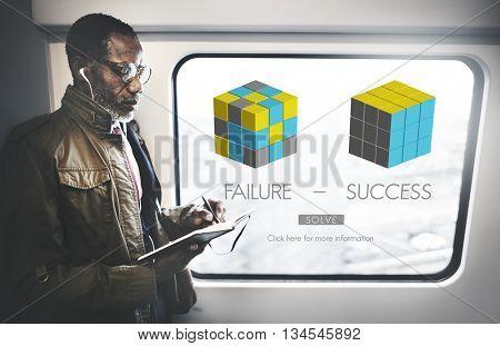 Failure Success Achievement Excellence Failing Concept