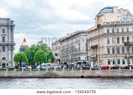 Makarov Embankment In St.petersburg