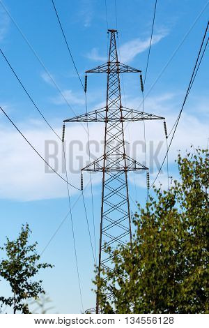 reliance high voltage power line holds a wires