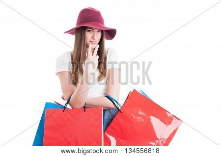 Look Into My Eyes Concept With Beautiful Woman Shopper