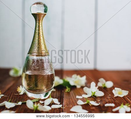 Perfume And White Flowers