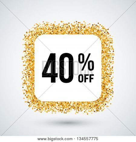 Golden Frame with Discount Forty Percent for Design