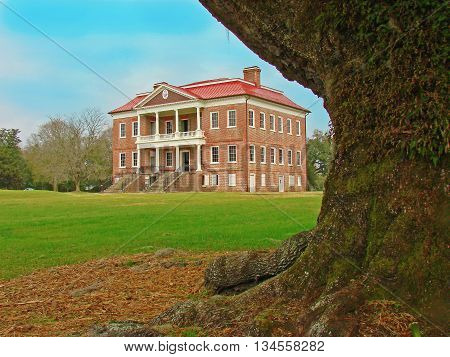 Drayton Hall historic plantation from 1738 Charleston South Carolina