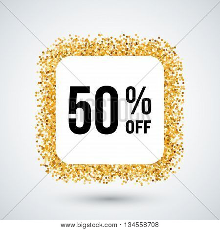 Golden Frame with Discount Fifty Percent for Design