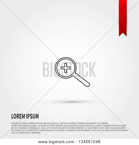 Magnifying glass isolated. Vector illustration. Vector icon.
