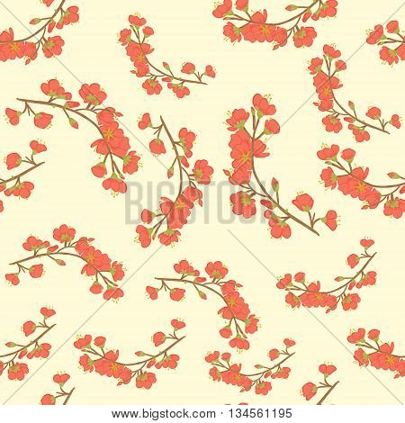 Seamless vector background. Sakura branches. Background for scrapbooking, wallpapers, etc.