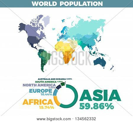 World Population Vector Map. Modern design illustration template