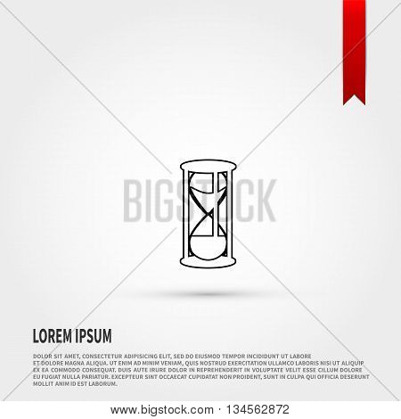 Hourglass Icon Vector. Vector illustration. Vector icon.