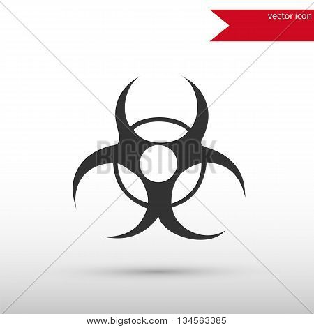Biohazard Icon. Biohazard symbol. Danger concept. Flat design style. Template for design.