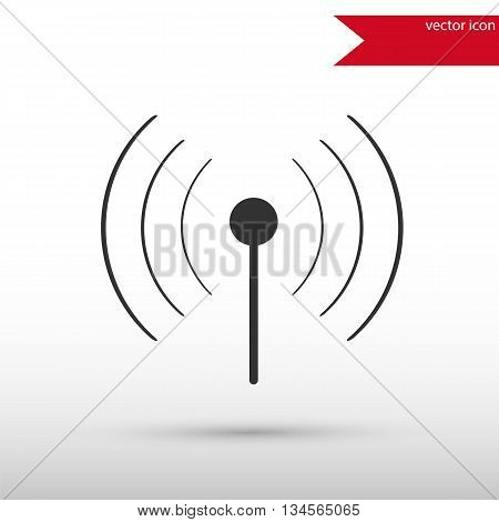 Wireless icon. Wireless symbol. Flat design style. Template for design.