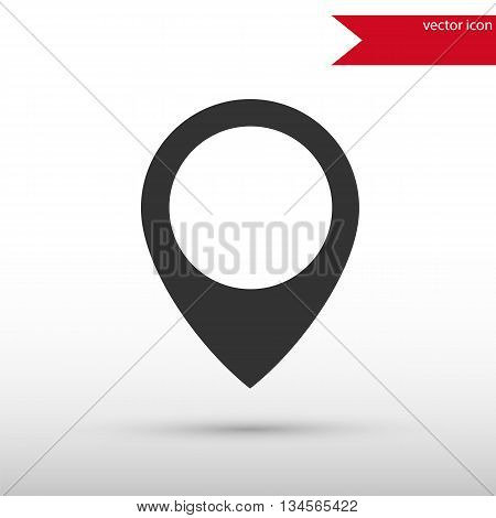 Map pointer icon. Map pointer symbol. Flat design style. Template for design.